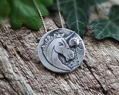 Solid silver unicorn pendant necklace, set with a spinel on a sterling silver necklace, unicorn gifts Cute Jewelry, Jewlery, Unique Jewelry, Sterling Silver Necklaces, Silver Earrings, Necklace Set, Pendant Necklace, Unicorn Jewelry, Unicorn Gifts