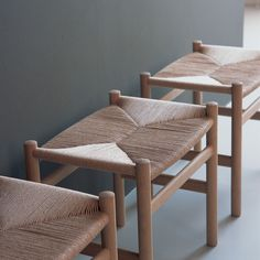 CH53 Stool by Hans Wenger for Carl Hansen & Son