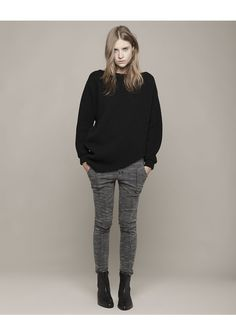 long sleeved draped sweater ++ thakoon addition