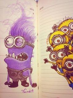 Minion drawing <3 art. I WANT TO DRAW A MINION!