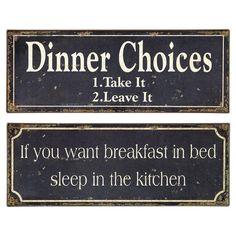 Breakfast & Dinner Wall Decor Set. ha!
