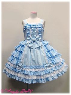 Angelic pretty(of course), Its so frilly!..,But it kind of reminds me of roofs..>.>