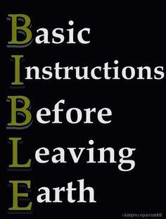 Bible...basic instructions