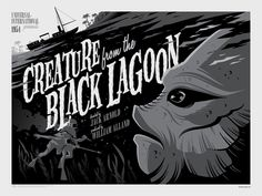 Creature from the Black Lagoon- silkscreen event poster (click image for more detail) Artist: Tom Whalen Venue: N/A Location: N/A Date: 2013 Edition: numbered only Size: x Condition: Mint Tom Whalen, Horror Movie Posters, Movie Poster Art, Horror Movies, Gig Poster, Scary Movies, Frankenstein, Classic Monster Movies, Classic Monsters