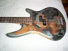 IBANEZ   SOUNDGEAR  BASS GUITAR with  BADASS PAINT JOB