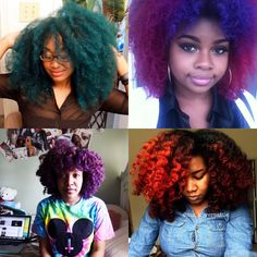 BGLH | YouTube Naturals Who Rock Vivid Color | Black Girl with Long Hair