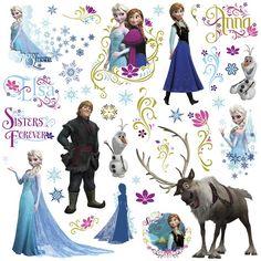disney frozen wall stickers with glitter roommates heart wallstickery