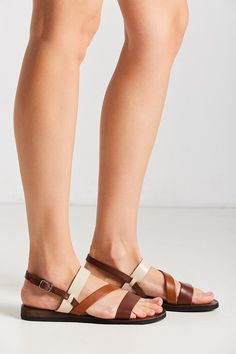 Cooper Leather Colorblock Sandal