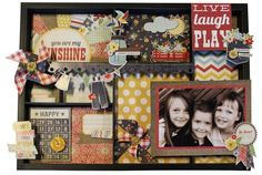 Very cute decorated tray using the Summer Fresh line from Simple Stories.