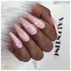 Pink glitter coffin nails     ✔️✔️  • • • @valentinobeautypure #nails#nailart#stilettonails#MargaritasNailz#vetrogel#nailfashion#naildesign#nailswag#coffinnails#nailedit#nailcandy#nailprodigy#ombrenails#nailsofinstagram#glitternails#nailaddict#nailstagram#naildesigns#instagramnails#nailsoftheday#nailporn#nailsonfleek#nailpro#naildesigns#fashionnails#vetrousa#teamvalentino#glitterombre#pinknails#mattenails#valentinobeautypure
