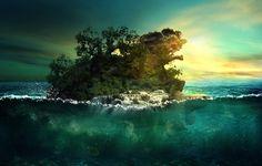 Create an Aquatic Photo Manipulation of a Giant Tortoise