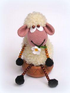 Crochet sheep doll, Sheep toy, Crocheted toy, Amigurumi doll,