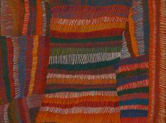Eunice Napanangka Jack / Hair String 2004  122 x 92 cm