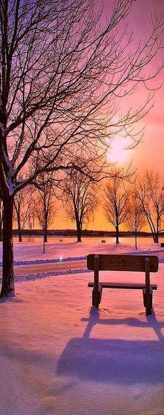 AMAZING SHOT !! sunset winter snow #photo by NurCaN - plus.google.com