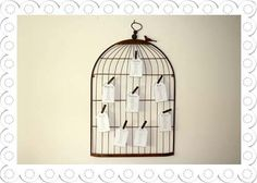 Vintage Birdcage Table Plan / or most likely alternative guest book.