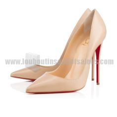 """Christian Louboutin Will Change the Way You Think About Nude Shoes: Whether it's for lingerie or shoes, the term """"nude"""" is a pretty vague description. Dr Shoes, Red Bottom Shoes, Christian Louboutin Outlet, Beautiful Shoes, Girls Shoes, Ideias Fashion, Shoe Boots, High Heels, Outfit"""