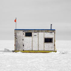 Since photographer Richard Johnson has been traveling around Canada, documenting the architectural variations in ice fishing huts. Ice Fishing Huts, Fishing Shack, Ice Shanty, Urban Beauty, Shed, Architecture, Tiny Houses, Rooftop, Abandoned