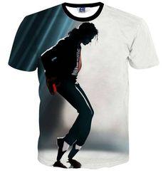 9de1295e061 BaoLong brand new fashion classic Michael Jackson dancing print t-shirt men  Hip hop style casual tops male tee