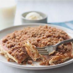 Cinnamon Streusel Pancakes ~ Breakfast or dessert?