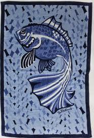 Porthault Poisson Beach Towel