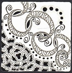 I love this tangle! I was surprised how it just sort of was born within 5 minutes of the first stroke. I was working hard on trying to dev...