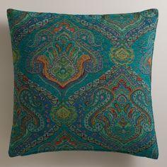Peacock Jacquard Glasgow Throw Pillow | World Market