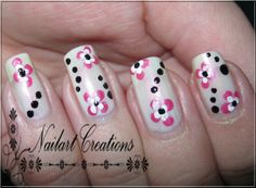 Nailart Creations: Step By Step Tutorial Simple Flowers