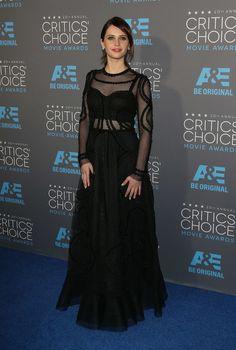 Felicity Jones at the 2015 Critics' Choice Movie Awards