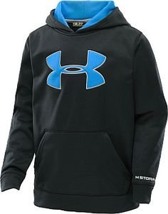 The Storm finish on this Boys @underarmour hoodie prevents precipitation from getting him soaked, while ColdGear technology traps body heat and quickly wicks sweat away. #GiftOfSport