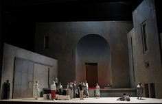 Elektra from Festival d'Aix-en-Provence. Production by Patrice Chereau. Sets by Richard Peduzzi. Stage Design, Set Design, Theatre Stage, Scenic Design, Provence, Opera, Scenery, Mirror, Building
