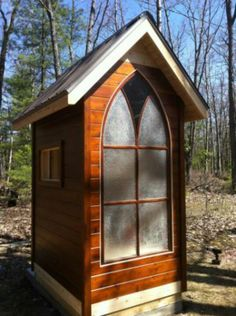 church window???  Holy Outhouse!