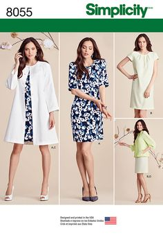 simplicity pattern h cynthia rowley misses dresses sz .