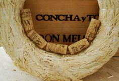 """Project from Crafting with Lolly: """"Kewl Cork Wreath """". Glue sticks lots - I used 6 of the Wine Cork Wreath, Wine Cork Art, Wine Corks, Wine Craft, Wine Cork Crafts, Straw Wreath, Save On Crafts, Diy Crafts, Lemon Wreath"""