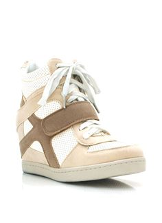 faux suede wedge sneakers $31.90 in BEIGE BLACK CAMEL MAUVE SKYBLUE - Wedges | GoJane.com