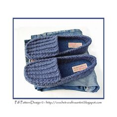 Ravelry: His Warm Denim Loafers pattern by Ingunn Santini €5.00 EUR about $6.51