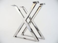 28 X-frame Table Legs 24 Base Widthstainless Steel от Balasagun