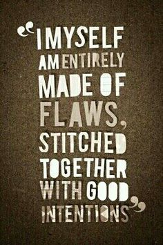 Sewn to imperfection!