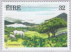 Connemara National Park postal stamp ... Connemara, Co. Galway, Ireland