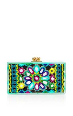 Jean Clutch With Embroidered Inlay by Edie Parker Now Available on Moda Operandi