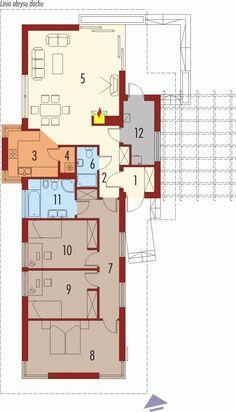 DOM.PL™ - Projekt domu AC Bil G1 CE - DOM AF3-63 - gotowy koszt budowy Floor Plans, Ideas, Floor Plan Drawing, House Floor Plans