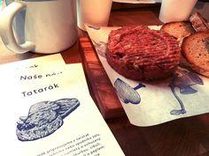 Naše Maso - Steak tartar - Prague Prague Food, Adventure, Meat, Adventure Movies, Adventure Books