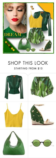 """""""Green Leaves and Dreams"""" by michelletheaflack ❤ liked on Polyvore featuring Missoni, Água de Coco, Bottega Veneta, Eyepetizer, Stephen Dweck, shorts and styleinsider"""