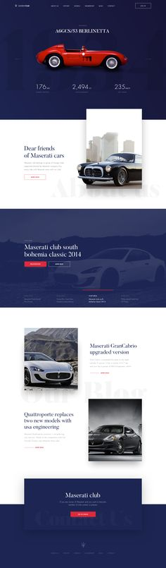 Maserati Club Website - Ui concept design by Martin Strba.
