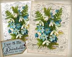 INSTANT DOWNLOAD  Printable French Country by ewenmeprintables