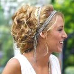 Love this Greek inspired style. My hair would easily do that!