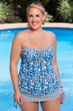Plus Size Swimwear Always For Me Chic Prints Marilia Tankini Always for Me  Price:$89.00 In Stock