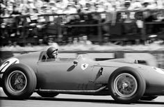 The Ferrari 246/F1 of Tony Brooks on route to victory 1959 French GP