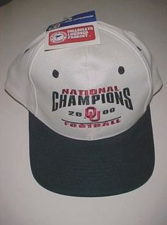 Details about Oklahoma Sooners Football 2000 National Champions Adult  Unisex White Cap New NWT 18d724f614a7