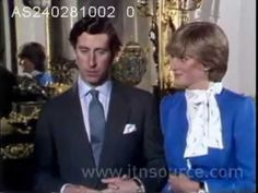 Diana and Charles give an interview after the announcement of their engagement  2-24-1981