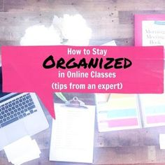 How to Stay Organized in Online College Courses (tips from an expert) | Organized Charm | Bloglovin'